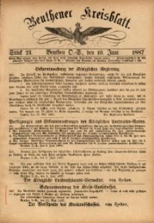 Beuthener Kreisbatt, 1887, St. 23