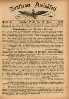 Beuthener Kreisbatt, 1887, St. 24