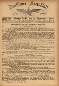 Beuthener Kreisbatt, 1887, St. 38