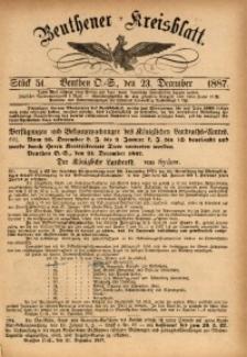 Beuthener Kreisbatt, 1887, St. 51