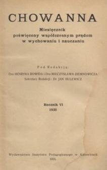 Chowanna, 1935, R. 6
