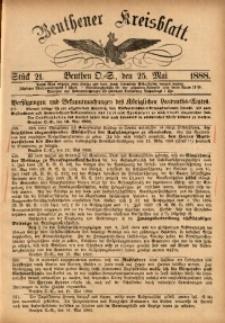 Beuthener Kreisbatt, 1888, St. 21