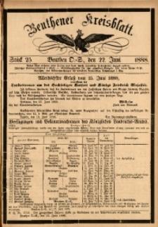 Beuthener Kreisbatt, 1888, St. 25