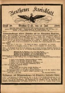 Beuthener Kreisbatt, 1888, St. 28