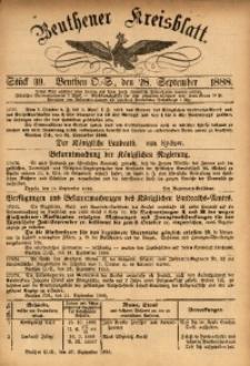 Beuthener Kreisbatt, 1888, St. 39