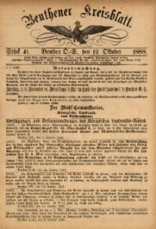 Beuthener Kreisbatt, 1888, St. 41