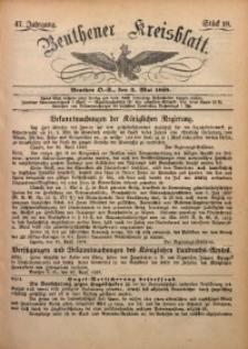 Beuthener Kreisbatt, 1889, Jg. 47, St. 18