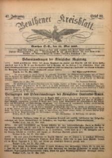 Beuthener Kreisbatt, 1889, Jg. 47, St. 22