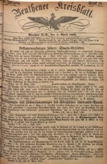 Beuthener Kreisbatt, 1890, Jg. 48, St. 14