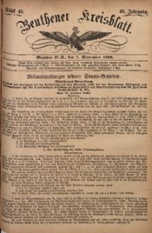 Beuthener Kreisbatt, 1890, Jg. 48, St. 45
