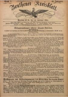 Beuthener Kreisbatt, 1891, Jg. 49, St. 7