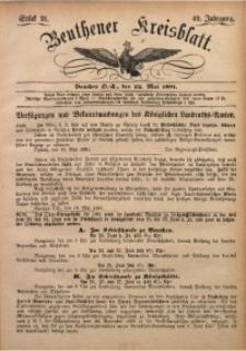 Beuthener Kreisbatt, 1891, Jg. 49, St. 21