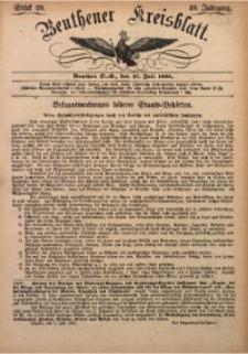 Beuthener Kreisbatt, 1891, Jg. 49, St. 29