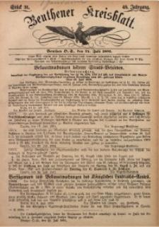 Beuthener Kreisbatt, 1891, Jg. 49, St. 31