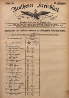 Beuthener Kreisbatt, 1891, Jg. 49, St. 35