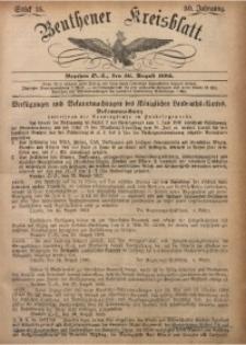 Beuthener Kreisbatt, 1892, Jg. 50, St. 35