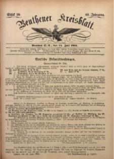 Beuthener Kreisbatt, 1905, Jg. 63, St. 28