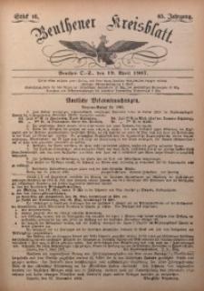 Beuthener Kreisbatt, 1907, Jg. 65, St. 16
