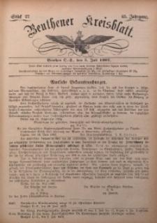 Beuthener Kreisbatt, 1907, Jg. 65, St. 27