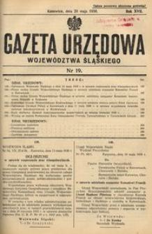 Gazeta Urzędowa Województwa Śląskiego, 1938, R. 17, nr 19