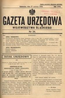 Gazeta Urzędowa Województwa Śląskiego, 1938, R. 17, nr 24