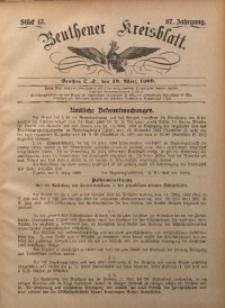 Beuthener Kreisbatt, 1909, Jg. 67, St. 12