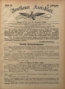 Beuthener Kreisbatt, 1909, Jg. 67, St. 50
