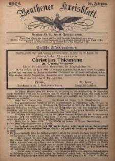 Beuthener Kreisbatt, 1900, Jg. 58, St. 6