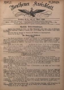 Beuthener Kreisbatt, 1900, Jg. 58, St. 17