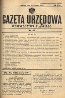 Gazeta Urzędowa Województwa Śląskiego, 1938, R. 17, nr 49
