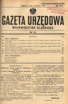 Gazeta Urzędowa Województwa Śląskiego, 1938, R. 17, nr 51