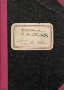 Sprawozdania za rok 1962