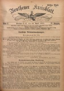Beuthener Kreisblatt, 1914, Jg. 72, St. 17