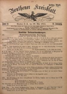 Beuthener Kreisblatt, 1914, Jg. 72, St. 22