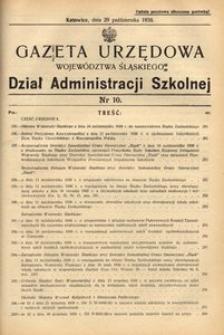 Dział Administracji Szkolnej, 1938, R. [15], nr 10