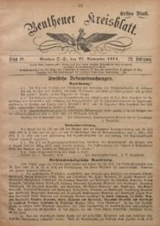 Beuthener Kreisblatt, 1914, Jg. 72, St. 48