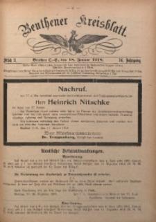 Beuthener Kreisblatt, 1918, Jg. 76, St. 3
