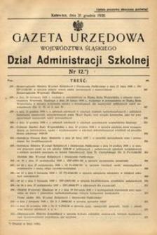 Dział Administracji Szkolnej, 1938, R. [15], nr 12