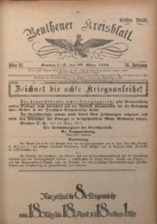Beuthener Kreisblatt, 1918, Jg. 76, St. 13