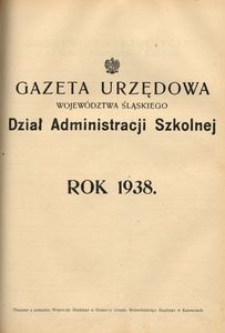 Skorowidz Alfabetyczny do Działu Administracji Szkolnej za rok 1938