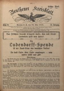 Beuthener Kreisblatt, 1918, Jg. 76, St. 21
