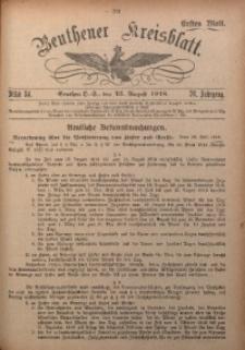 Beuthener Kreisblatt, 1918, Jg. 76, St. 34