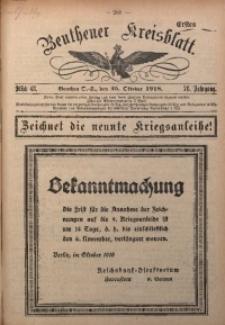 Beuthener Kreisblatt, 1918, Jg. 76, St. 43