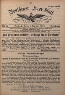 Beuthener Kreisblatt, 1918, Jg. 76, St. 49