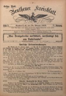 Beuthener Kreisblatt, 1919, Jg. 77, St. 9
