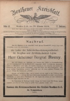 Beuthener Kreisblatt, 1919, Jg. 77, St. 43