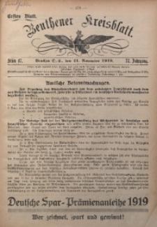 Beuthener Kreisblatt, 1919, Jg. 77, St. 47