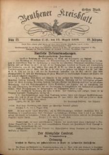 Beuthener Kreisblatt, 1910, Jg. 68, St. 32