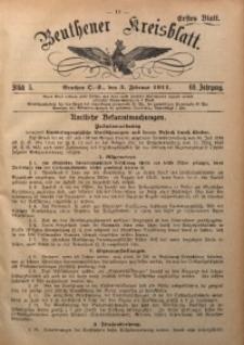 Beuthener Kreisblatt, 1911, Jg. 69, St. 5