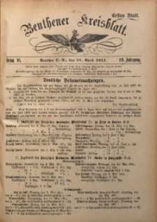 Beuthener Kreisblatt, 1911, Jg. 69, St. 16